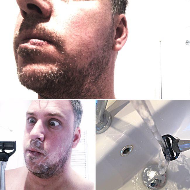 Shaving away the family beard