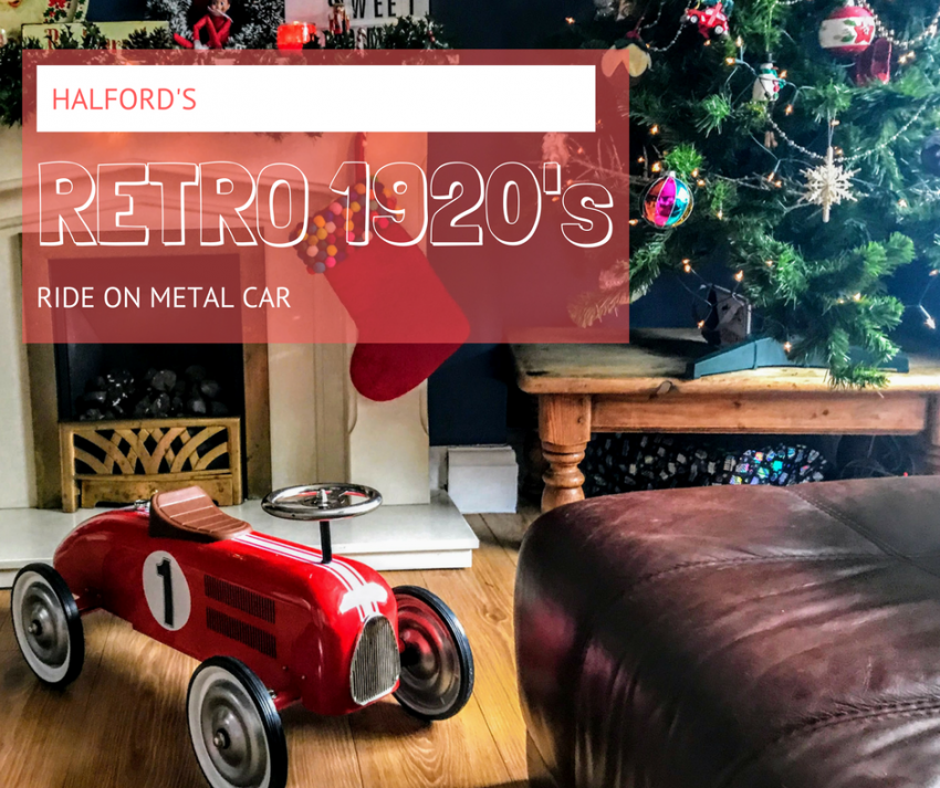 A Retro 1920s Metal Ride on Car for a Vintage Christmas with Halfords